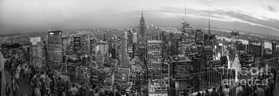 Photograph - New York Skyline Panorama Bw by Yhun Suarez
