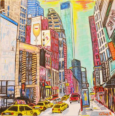 Skyline Painting - New York Skyline by Rubino CELINE