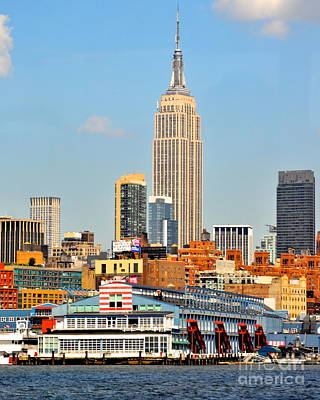 Photograph - New York Skyline With Empire State by Kathy Flood