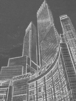 City Scenes Mixed Media - New York Skylines by Celestial Images