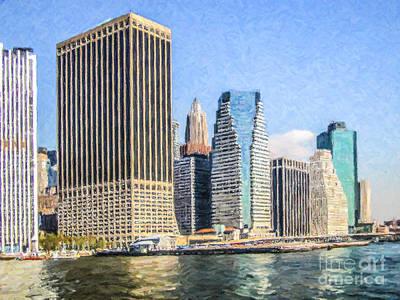 Digital Art - New York Skyscrapers by Liz Leyden