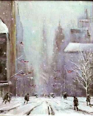 New York Snow Day Art Print