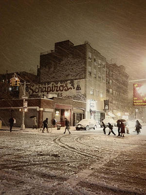 Lower East Side Photograph - New York - Snow On A City Street by Vivienne Gucwa