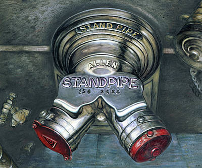 Painting - New York Standpipe - Still Life by Art America Gallery Peter Potter