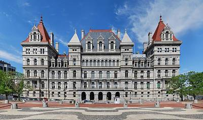 Capitol Building Digital Art - New York State Capitol by Georgia Fowler