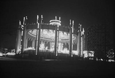 Photograph - New York State Pavilion Evening by John Schneider