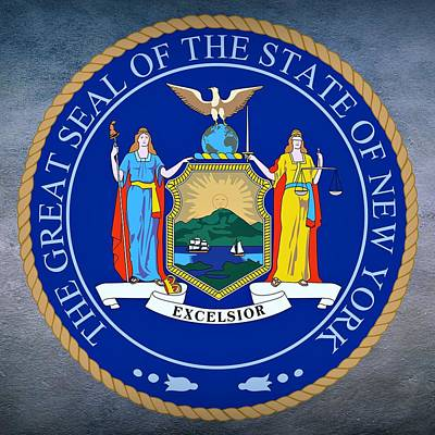 Scale Digital Art - New York State Seal by Movie Poster Prints