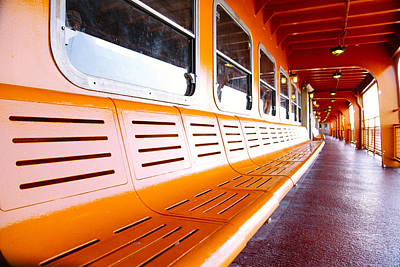 Montreal Icons Photograph - New York Staten Island Ferry by Simon Laroche