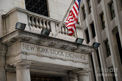 New York Stock Exchange Building Print by Amy Cicconi