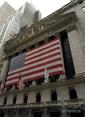 New York Stock Exchange Art Print by David Bearden