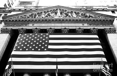 Of Artist Photograph - New York Stock Exchange by John Rizzuto