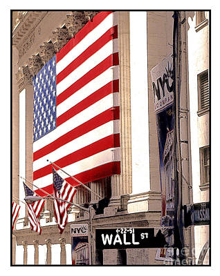 New York Stock Exchange Art Print by Linda  Parker