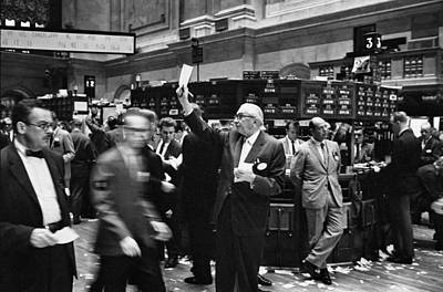 Broker Photograph - New York Stock Exchange by Underwood Archives