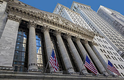 Black Commerce Photograph - New York Stock Exchange Wall Street Nyse  by Susan Candelario