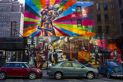 Mural Photograph - New York Street Scene by Garry Gay