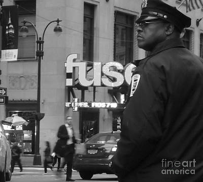 Photograph - New York City Street Scene - Traffic Cop by Miriam Danar