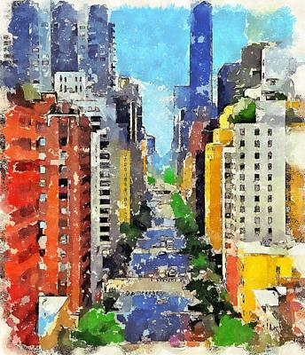 New York Street View Art Print by Yury Malkov