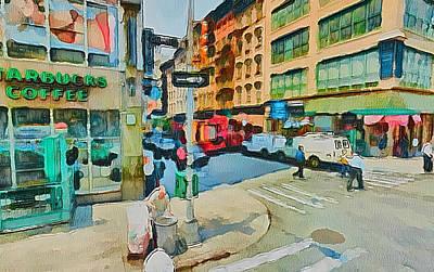 New York Streets 9 Art Print by Yury Malkov