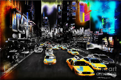 Christine Mixed Media - New York Streets by Christine Mayfield