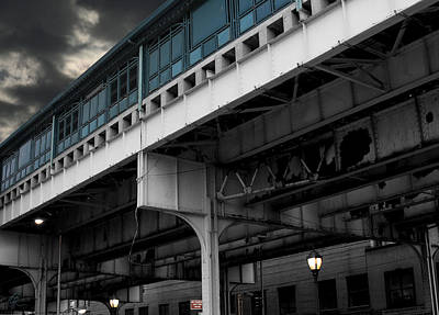 Photograph - New York Subway Overpass by Chris Thomas