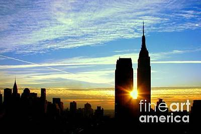 Photograph - New York Sunrise by Betsy Foster Breen
