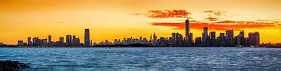 Photograph - New York Sunrise Panorama by Mihai Andritoiu