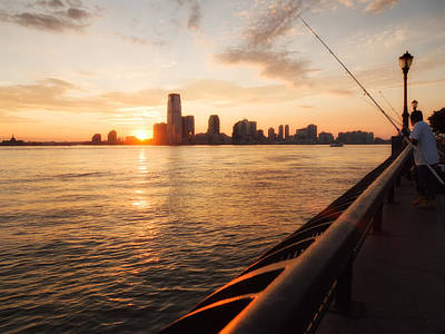 New York Skyline Photograph - New York Sunset by Alexander Voss