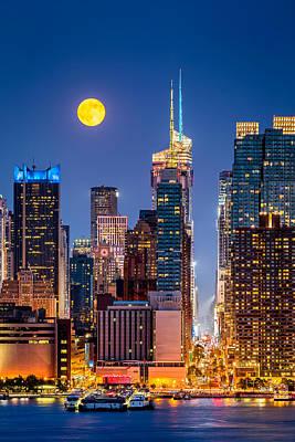 Photograph - New York Supermoon by Mihai Andritoiu