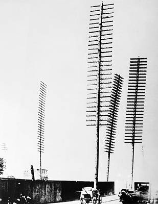Telephone Poles Photograph - New York Telephone Poles by Granger