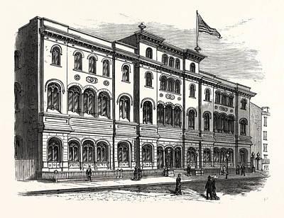 New York The Astor Library Art Print