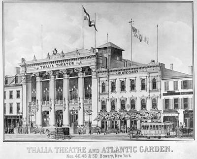 Painting - New York Theater, C1860 by Granger