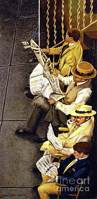 Painting - New York Times by Linda Simon