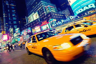 Times Square Photograph - New York - Times Square by Alexander Voss