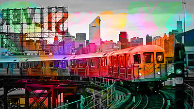 Digital Art - New York Train by Marvin Blaine