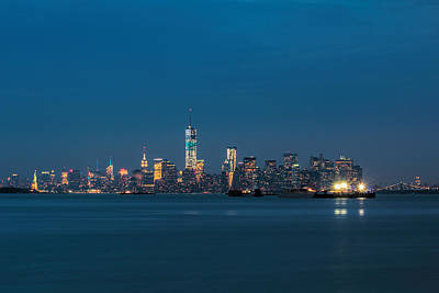 Skylines Royalty-Free and Rights-Managed Images - New York Twilight by Jonathan Davison