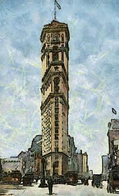 New York Vintage Landmarks Art Print