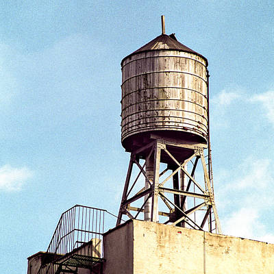 Photograph - New York Water Tower 1 - New York Scenes  by Gary Heller