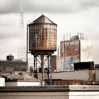 Art Print featuring the photograph New York Water Tower 16 by Gary Heller