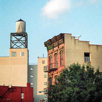 Art Print featuring the photograph New York Water Tower 3 by Gary Heller