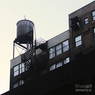 Photograph - New York Water Tower by Gregory Dyer