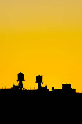 Montreal Icons Photograph - New York Water Towers by Simon Laroche