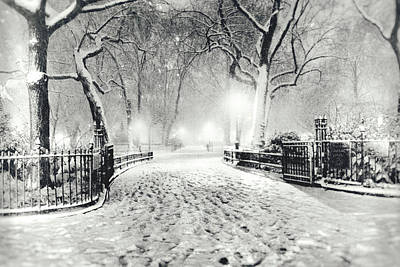 New York Winter Landscape - Madison Square Park Snow Art Print by Vivienne Gucwa