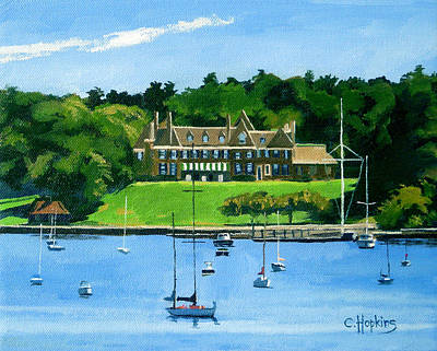 New York Yacht Club Newport Rhode Island Art Print by Christine Hopkins