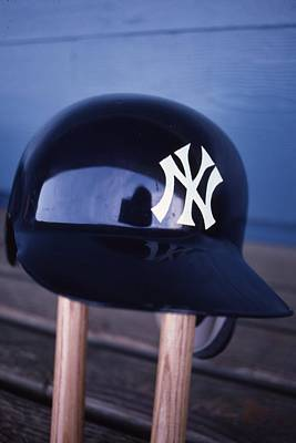 New York Yankees Batting Helmet Art Print