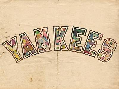 Painting - New York Yankees Poster Art by Florian Rodarte