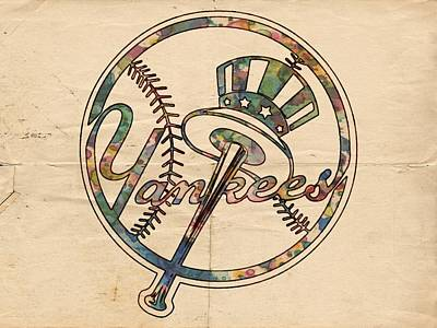 Bat Digital Art - New York Yankees Poster Vintage by Florian Rodarte