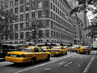 Photograph - New York Yellow Taxi by New York