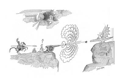 New Yorker April 10th, 1965 Art Print by Saul Steinberg