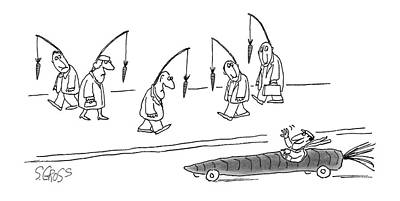 Metaphor Drawing - New Yorker April 10th, 1978 by Sam Gross
