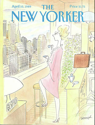Jean Jacques Sempe Painting - New Yorker April 10th, 1989 by Jean-Jacques Sempe